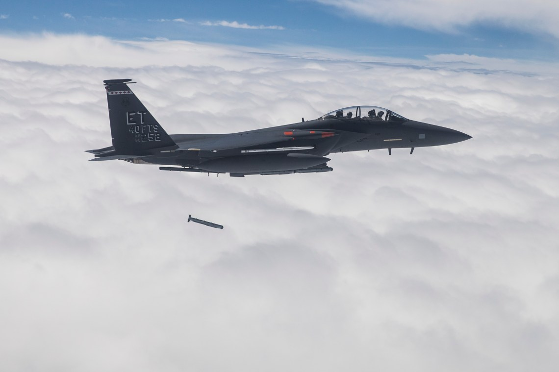 Raytheon completed development and integration of the StormBreaker™ smart weapon on the F-15E Strike Eagle in April 2018.