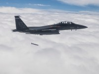 Raytheon completed development and integration of the StormBreaker™ smart weapon on the F-15E Strike Eagle in April 2018. (Photo: U.S. Air Force)