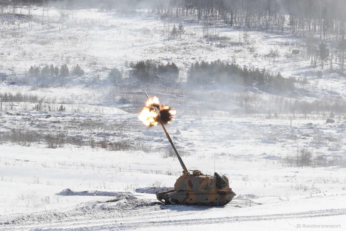 Rostec Demonstrates 155mm Msta-S Howitzer Developed by UralVagonZavod