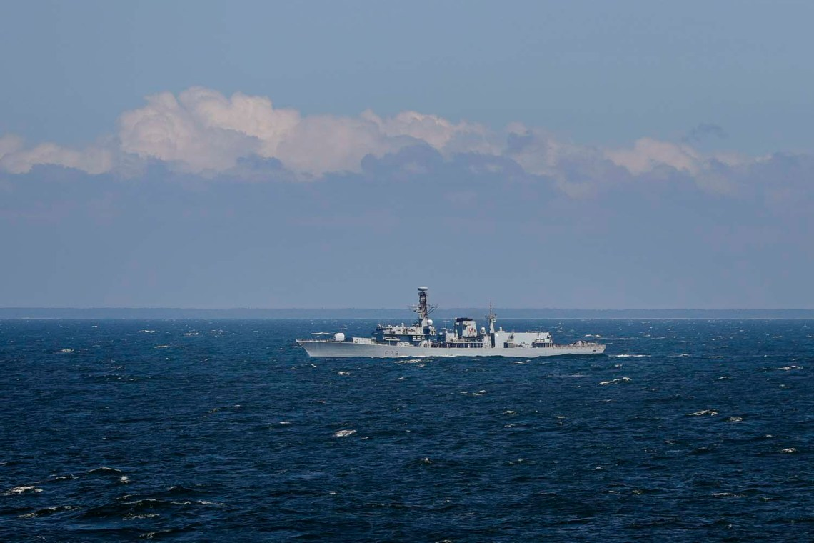HMS Kent has been shadowing seven Russian ships alongside eight other Royal Navy vessels in UK waters