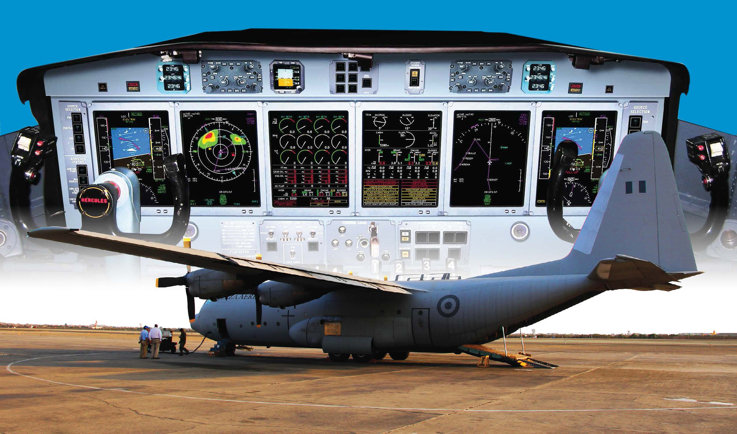 Astronautics Corporation of America Upgrades L-100 Hercules Transport Aircraft