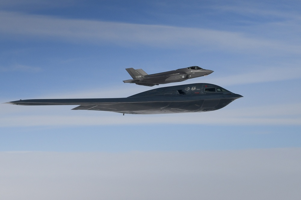 Bomber Task Force 20-2 Integrates with A Royal Netherlands Air Force F-35