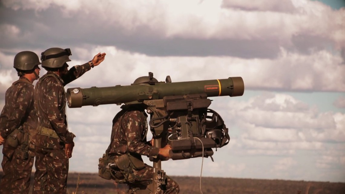Brazilian Army fires the RBS 70 NG man-portable air defence system