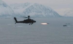 British Army Apache Launch Hellfire in Arctic