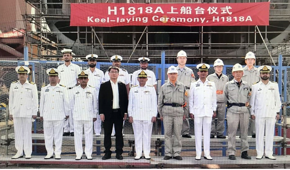 China State Shipbuilding Corporation Lays Keel for Pakistan Navy Second Type 054A Frigate