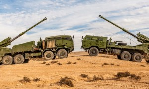 Elbit Systems ATMOS 155mm/52 caliber truck-mounted howitzer