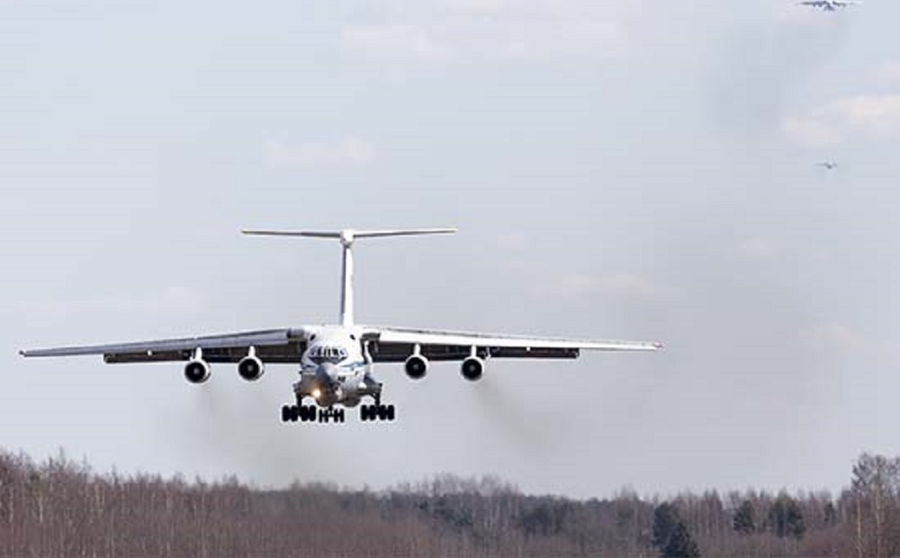 Fifteenth Russian Ilyushin Il-76 Delivers Medical Equipment to Italy