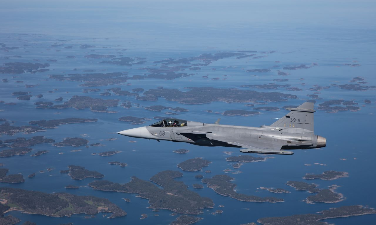 Saab Gripen E fighter aircraft