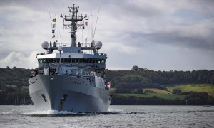 HMS Echo has been shadowing seven Russian ships alongside eight other Royal Navy vessels in UK waters