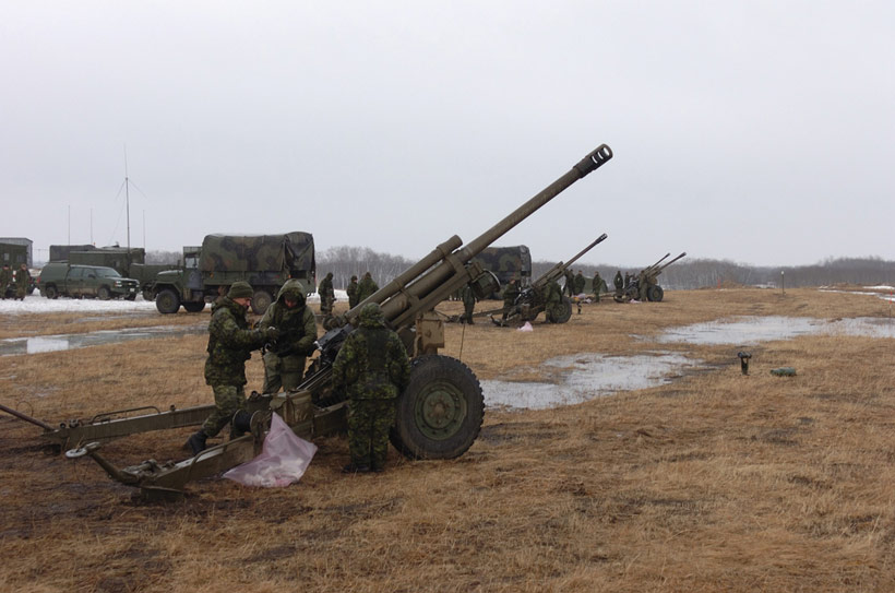 Canadian Army Nexter LG1 Mk II Light Howitzer