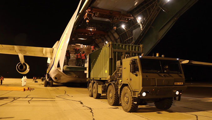 NATO Allies Antonov An-124 Brings Urgent Medical Supplies to the Czech Republic