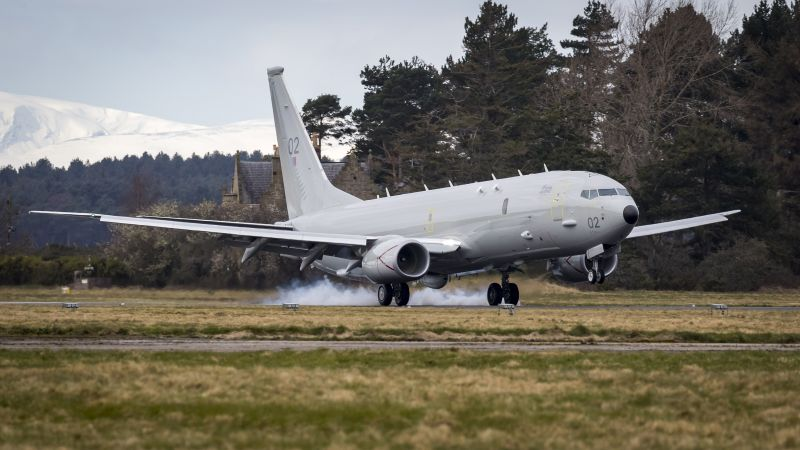 Royal Air Force's Second P-8A Poseidon MRA1 Arrives In Scotland