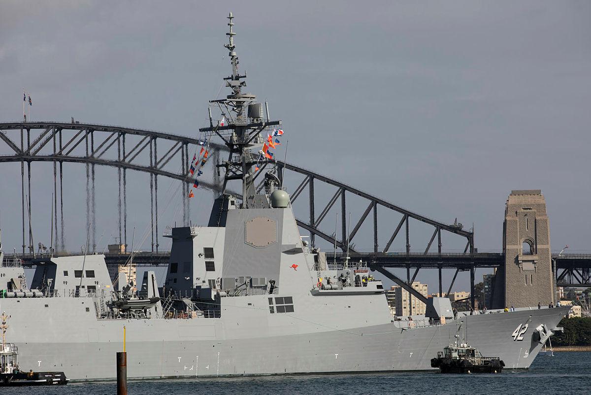NUSHIP Sydney arrives in Sydney