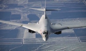 Russian Bomber Tu-160M Aerial Refueling Exercise