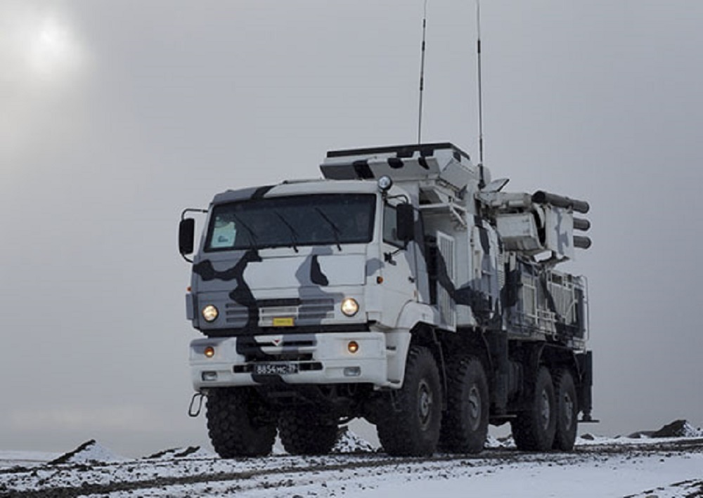 Russian Northern Fleet Pantsyr-S1 Eliminate Ground Targets in Arctic drills