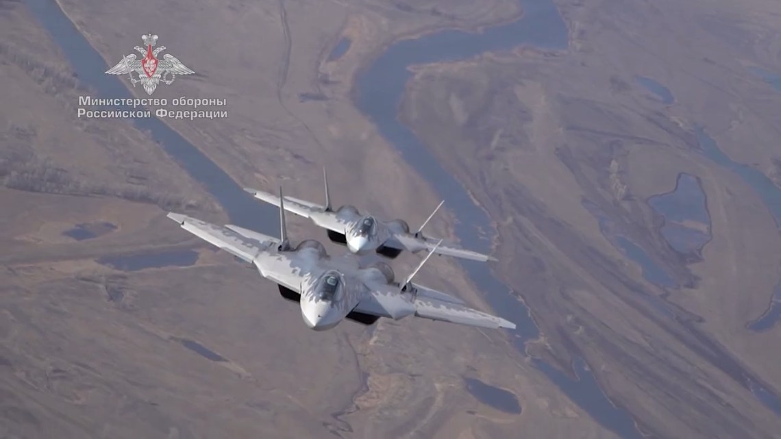 Sukhoi Su-57 (Felon) multirole fighter