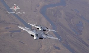 Russian Air Force Sukhoi Su-57 Stealth Air Superiority Fighter