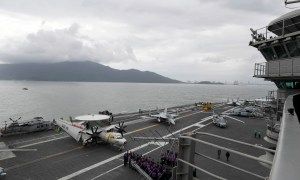 The aircraft carrier USS Theodore Roosevelt (CVN 71) arrives in Vietnam, March 5, 2020.