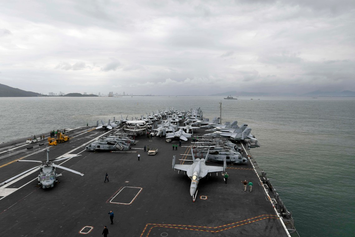 The Theodore Roosevelt Carrier Strike Group is on a scheduled deployment to the Indo-Pacific.