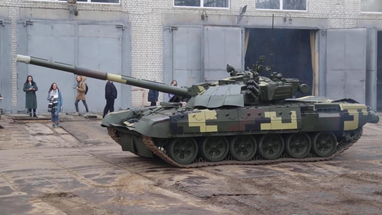 Ukrainian Army Upgraded T-72 Main Battle Tanks
