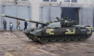 Ukrainian Army Upgraded T-72 Main Battle Tanks