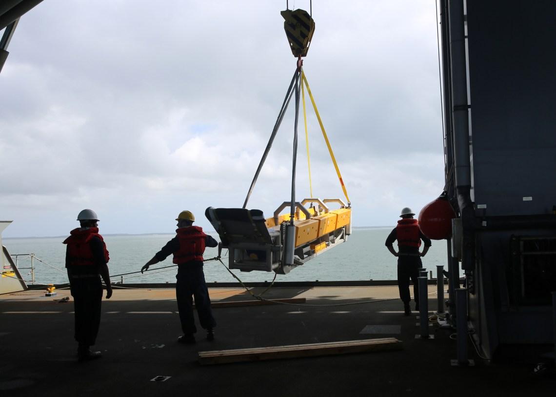 US Navy Expeditionary Sea Base USS Hershel 'Woody' Williams (ESB 4)