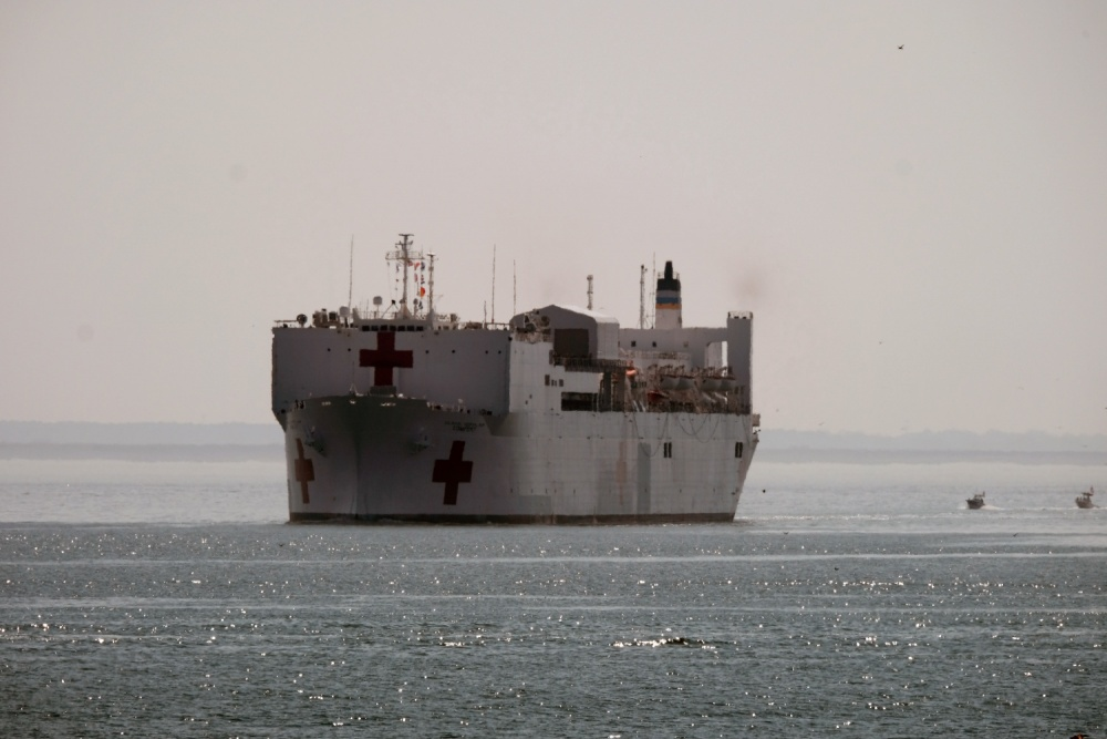 USNS Comfort (T-AH 20) is deploying in support of the nation's COVID-19 response efforts and will serve as a referral hospital for non-COVID-19 patients currently admitted to shore-based hospitals.