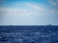 USS Barry Launches Missile