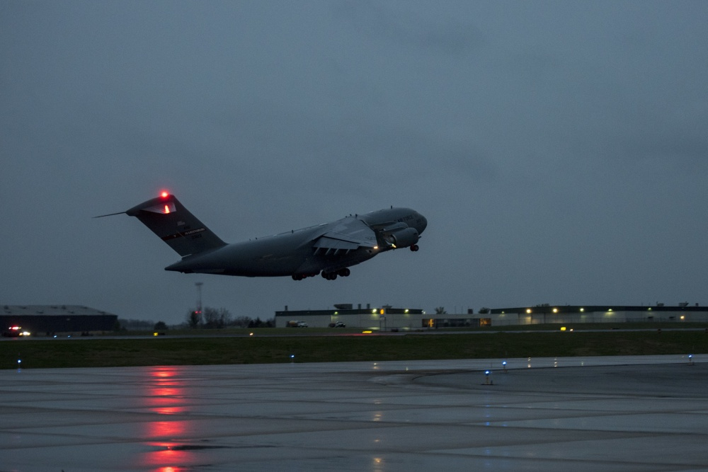 167th Airlift Wing Transports COVID-19 Test Kits from Italy to U.S.