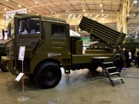 UkrOboronProm Reveals BM-21UM Berest Truck-Mounted Multiple Rocket Launcher System