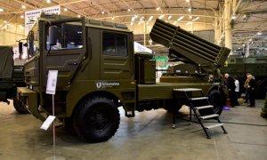 UkrOboronProm Reveals BM-21UM Berest Truck-Mounted Multiple Rocket Launcher System