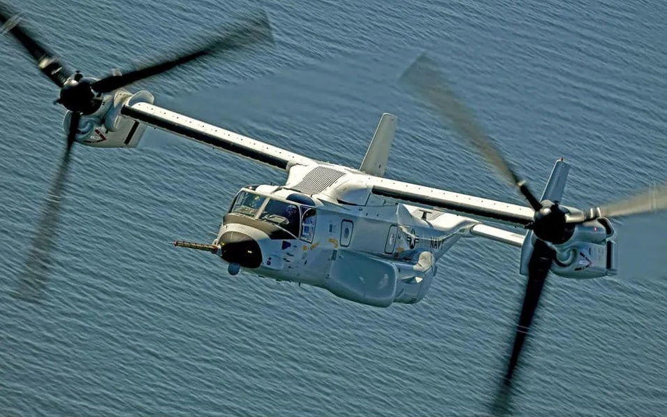 HX-21 CMV-22B tilt-rotor aircraft. USN photo by Erik Hildebrant