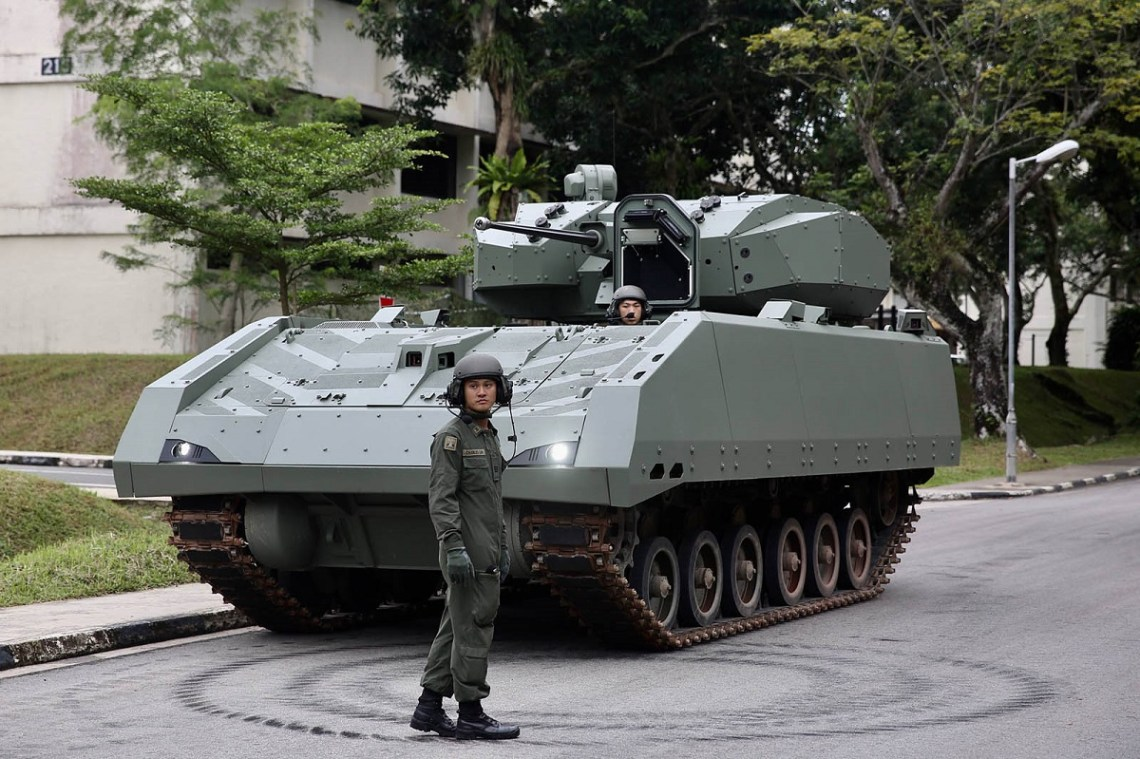 Hunter Armoured Fighting Vehicle (Photo : Singapore Armed Forces)