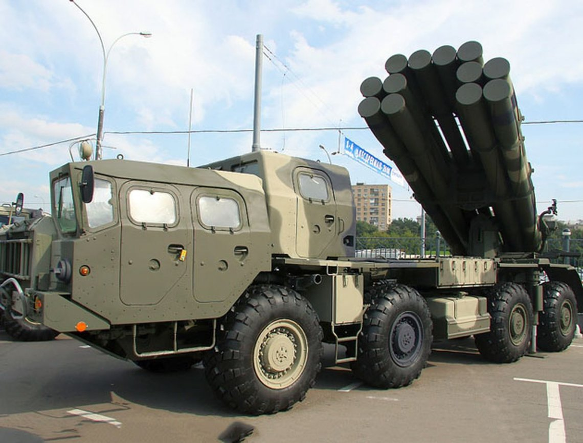 Baltic Fleet Artillery Receives New MLRS Smerch