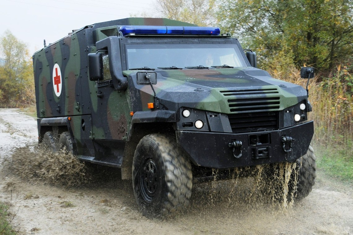 GDELS EAGLE 6×6 Protected Ambulances