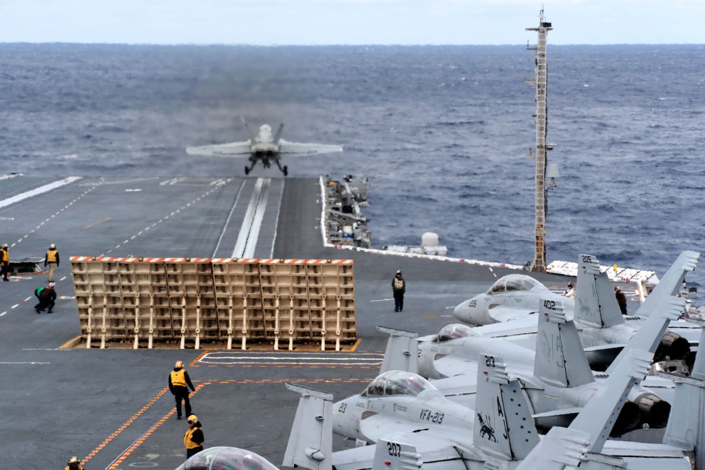 The EMALS electromagnetic catapults, and the related advanced Arresting Gear system, have delayed the operational availability of the first-of-class USS Ford, so the certification of its flight deck is a substantial milestone for the ship. (US Navy photo)