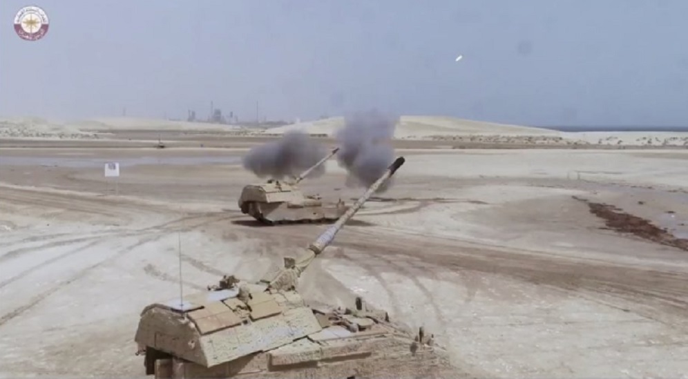 Qatar Armed Forces  PzH 2000 self-propelled howitzers