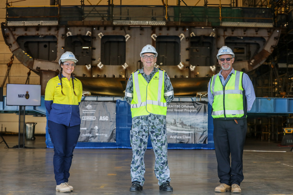 Royal Australian Navy Lays Keel of Second Arafura-class Offshore Patrol Vessel
