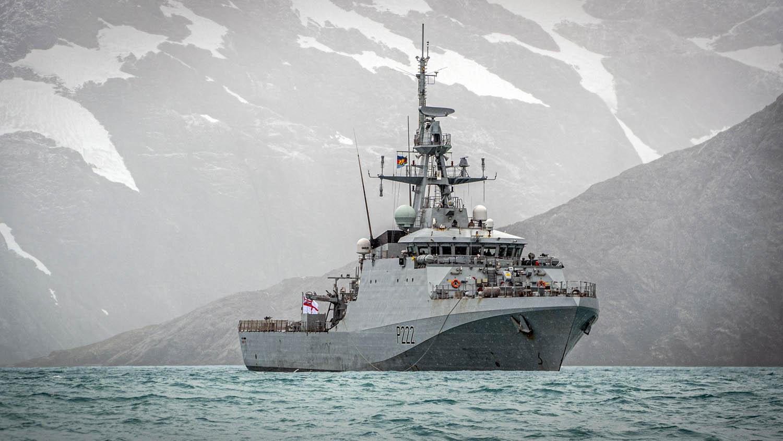 Royal Navy HMS Forth Patrol Ship Debuts in South Georgia