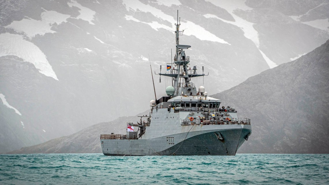 Royal Navy HMS Forth Patrol Ship Debuts in South Georgia