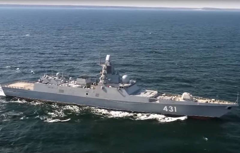 Russian Navy Admiral Kasatonov Sails to Baltic After Sea Trials