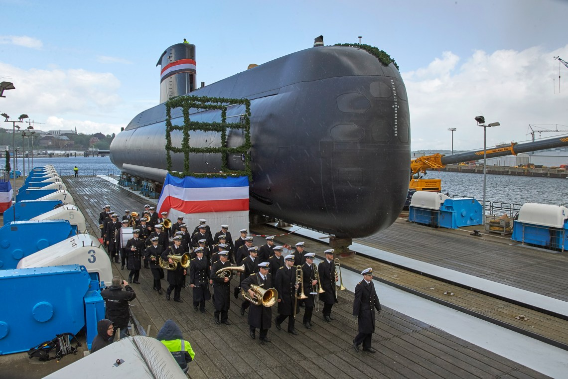 The third of four 209/1400mod class submarines for the Navy of the Arab Republic of Egypt was named and launched on May 3, 2019 at the shipyard of thyssenkrupp Marine Systems in Kiel.