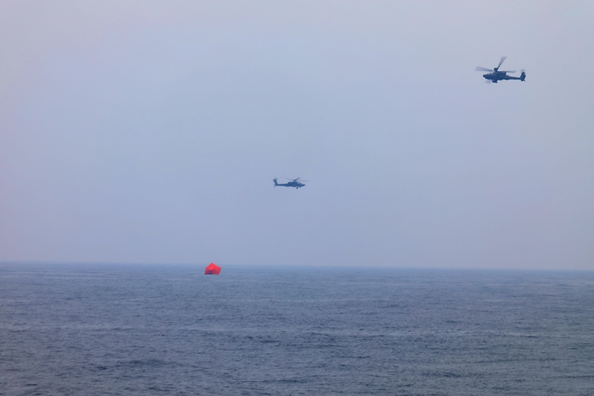 U.S. Navy Surface Forces and Army Helicopters Conduct Live Fire Exercise in North Arabian Gulf