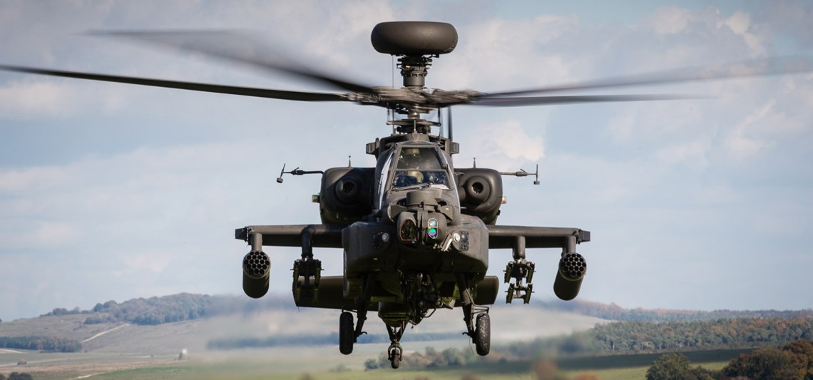 British Army Apache Attack Helicopter