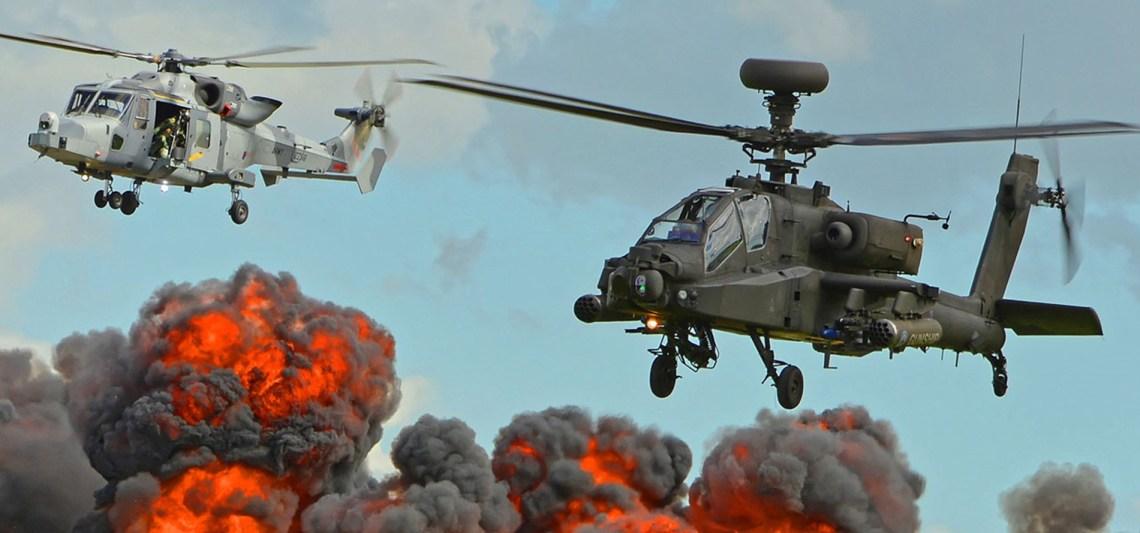 British Army Apache and Wildcat