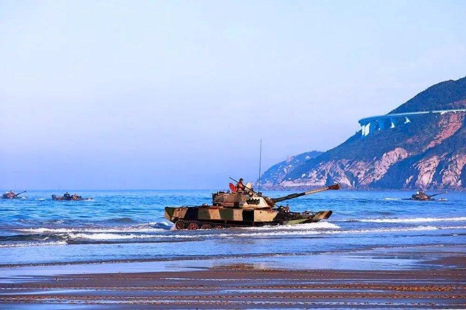Chinese PLAN Marine Corps Conducts Amphibious Landing Drills