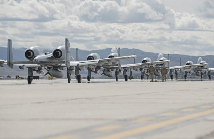 Dozen A-10 Thunderbolt II Close Air Support Head to Southwest Asia