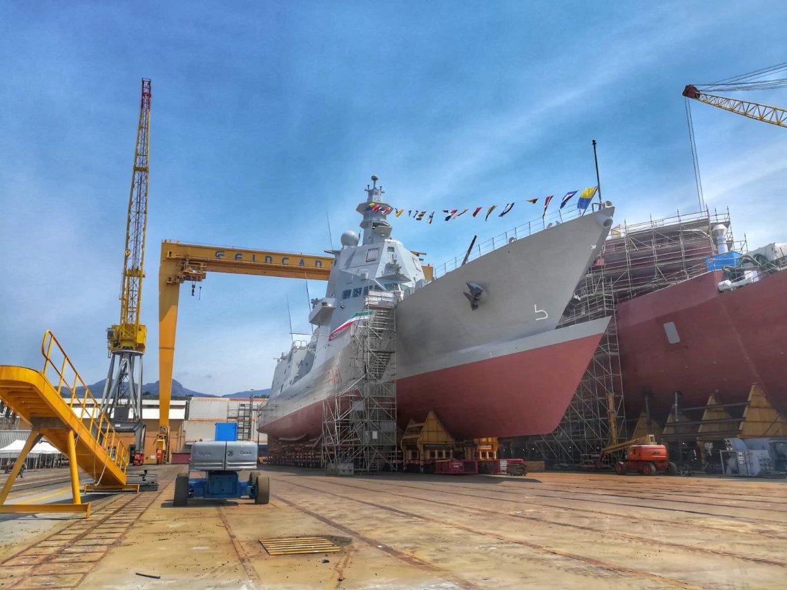 Fincantieri Launched Italian Navy Francesco Morosini Multipurpose Offshore Patrol Ship