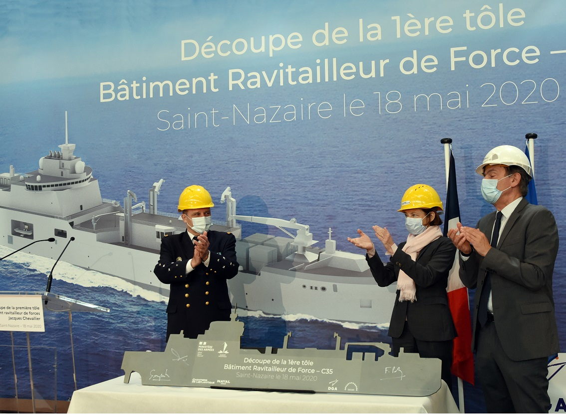 First Steel Cut For French Navy Replenishment Vessels