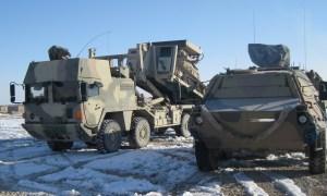 Rheinmetall MAN Multi FSA truck and Fuchs/Fox 1A8 armoured vehicles